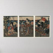 Utagawa Kunisada's Enjoying a Garden of Peonies
