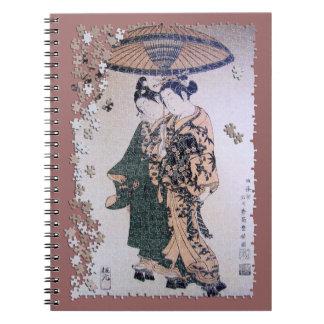 Ukiyo Kabuki jigsaw puzzle Spiral Notebook
