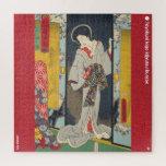 ukiyoe - Ama Myōchin - Japanese magician - Jigsaw Puzzle