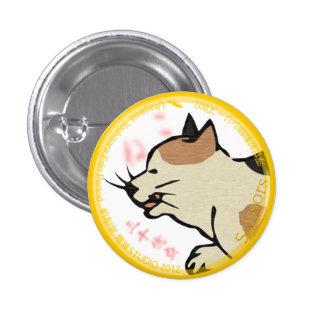 UkiyoE Animals 002 can badge Cat Button