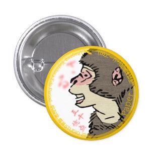 UkiyoE Animals 003 can badge Macaque Pin