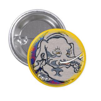 UkiyoE Animals 006 can badge Elephant Pinback Buttons