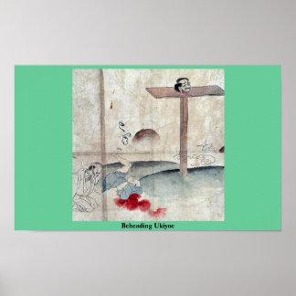 Ukiyoe de decapitación poster