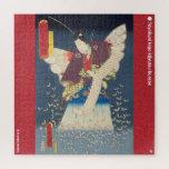 ukiyoe - Fujinami Yukari no jō - Japanese magician Jigsaw Puzzle