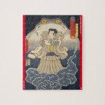 ukiyoe - Gantetsu hōin - Japanese magician - Jigsaw Puzzle