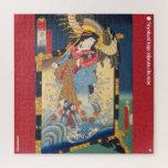 ukiyoe - Hakata Kojorō - Japanese magician - Jigsaw Puzzle