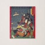 ukiyoe - Ichirarano Kidōmaru - Japanese magician - Jigsaw Puzzle