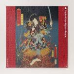 ukiyoe - Inuyama Dōsetsu - Japanese magician - Jigsaw Puzzle