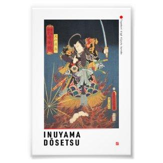 ukiyoe - Inuyama Dōsetsu - Japanese magician - Photo Print