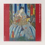 ukiyoe - Kazama Hachirō - Japanese magician - Jigsaw Puzzle