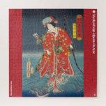 ukiyoe - Kusunoki Koma hime - Japanese magician - Jigsaw Puzzle