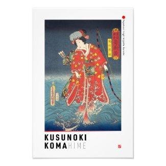ukiyoe - Kusunoki Koma hime - Japanese magician - Photo Print