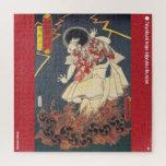 ukiyoe - Narukami shōnin - Japanese magician - Jigsaw Puzzle