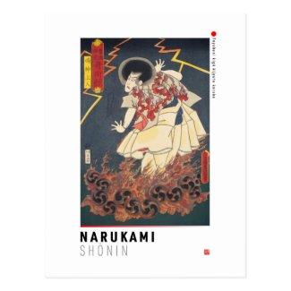 ukiyoe - Narukami shōnin - Japanese magician - Postcard