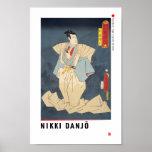 ukiyoe - Nikki Danjō - Japanese magician - Poster