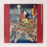 ukiyoe - Shiragikumaru - Japanese magician - Jigsaw Puzzle
