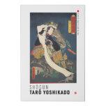 ukiyoe - Shōgun Tarō yoshikado - Japanese magician Faux Canvas Print
