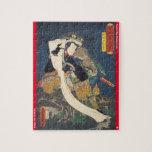 ukiyoe - Shōgun Tarō yoshikado - Japanese magician Jigsaw Puzzle