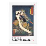 ukiyoe - Shōgun Tarō yoshikado - Japanese magician Photo Print