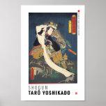 ukiyoe - Shōgun Tarō yoshikado - Japanese magician Poster