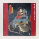ukiyoe - Simizukanjya Yoshitaka Japanese magician Jigsaw Puzzle