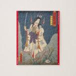 ukiyoe - Takiyasha hime - Japanese magician - Jigsaw Puzzle
