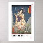 ukiyoe - Takiyasha hime - Japanese magician - Poster