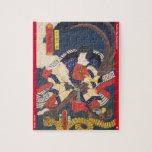 ukiyoe - Tenjiku Tokubē - Japanese magician - Jigsaw Puzzle