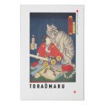 ukiyoe - Toraōmaru - Japanese magician - Faux Canvas Print