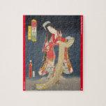 ukiyoe - Wakana hime - Japanese magician - Jigsaw Puzzle