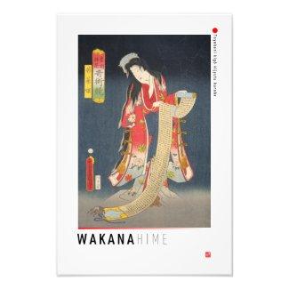 ukiyoe - Wakana hime - Japanese magician - Photo Print