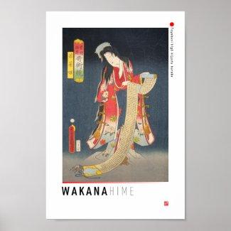 ukiyoe - Wakana hime - Japanese magician - Poster