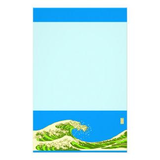 Ukiyoe wind 煎 brown stationery