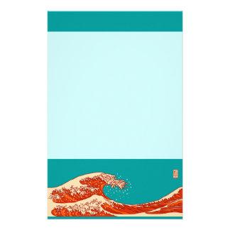 Ukiyoe wind black tea stationery