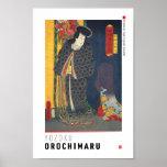 ukiyoe - Yōzoku Orochi maru - Japanese magician - Poster