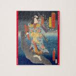 ukiyoe - Yūfu Tsunade - Japanese magician - Jigsaw Puzzle