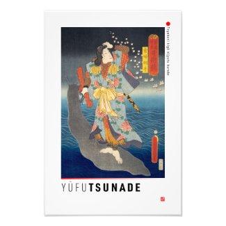 ukiyoe - Yūfu Tsunade - Japanese magician - Photo Print