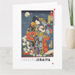 ukiyoe - Zokushu Jiraiya - Japanese magician - Card