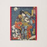 ukiyoe - Zokushu Jiraiya - Japanese magician - Jigsaw Puzzle