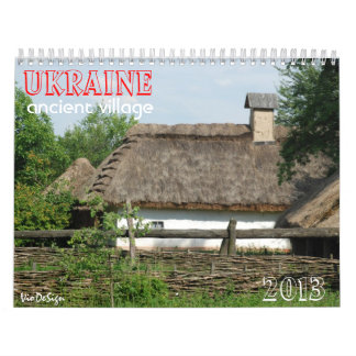 UKRAINE ancient village_calendar Calendar