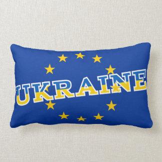 Ukraine and European Union flag design Lumbar Pillow