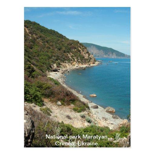 Ukraine Black Sea beach Postcard