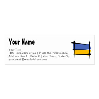 Ukraine Brush Flag Business Cards