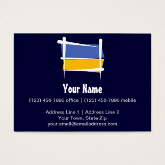 Ukraine Brush Flag Business Card