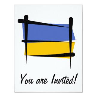 Ukraine Brush Flag Card