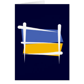 Ukraine Brush Flag Card