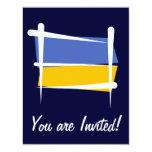 Ukraine Brush Flag Custom Invite