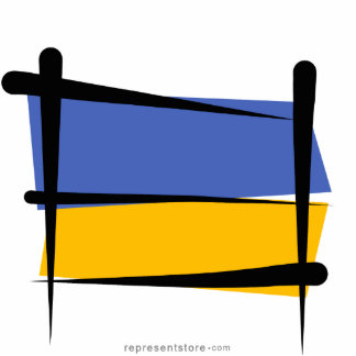 Ukraine Brush Flag Cutout