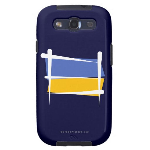 Ukraine Brush Flag Galaxy SIII Cover