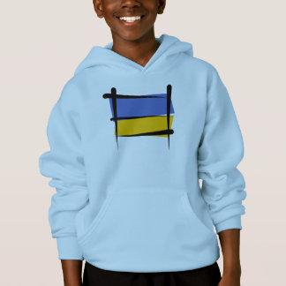 Ukraine Brush Flag Hoodie